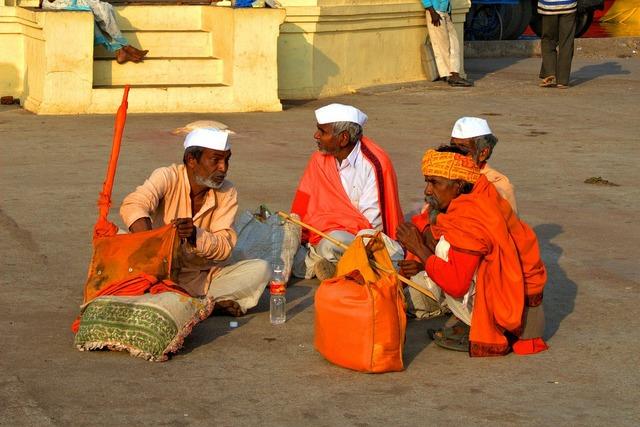 India men sadhus of india.
