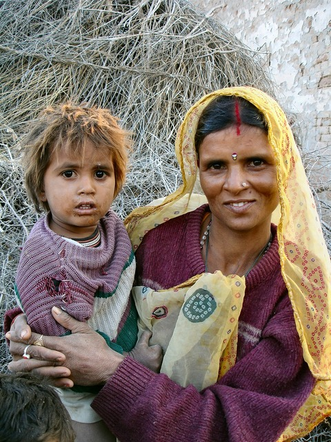 India mother mother and child.