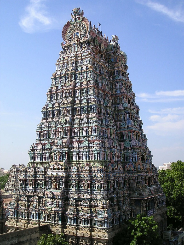 India temple tower, religion.