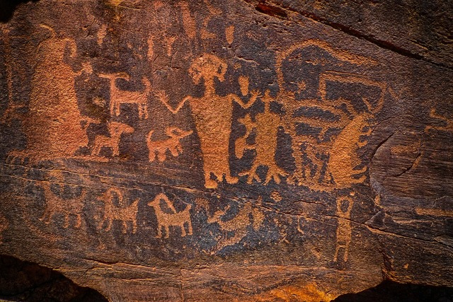 Indian art petroglyph native american.