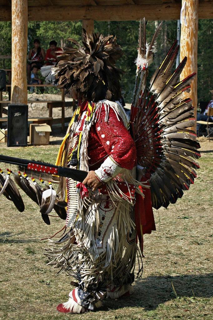 Indian powwow dance, sports.
