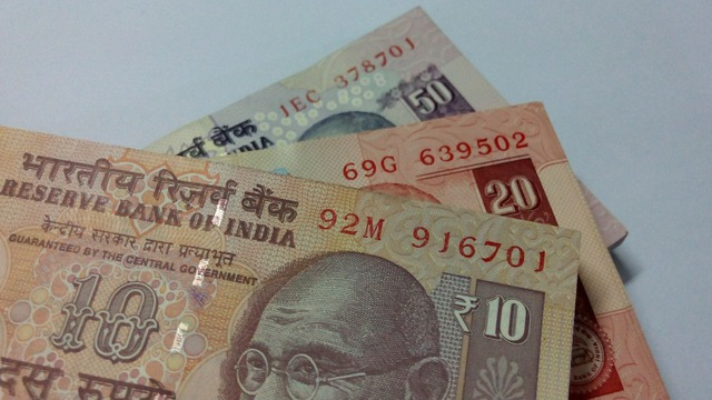 Indian rupees rupees note, business finance.