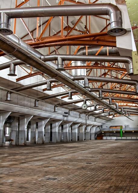 Industry hall ventilation, industry craft.