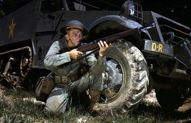 Infantry soldier world war ii.