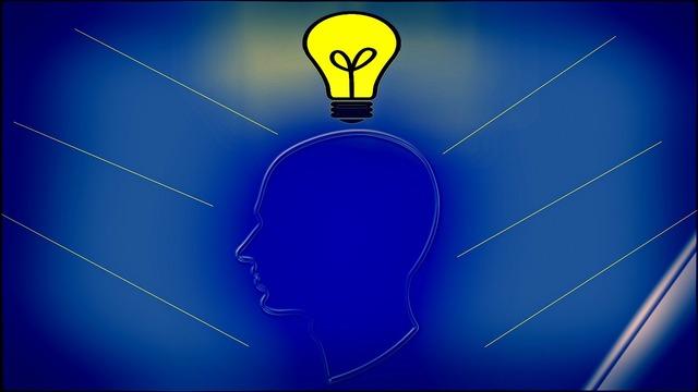 Innovation man light bulb, people.