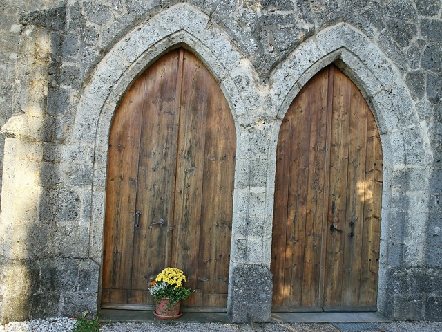 Input door double door, architecture buildings.
