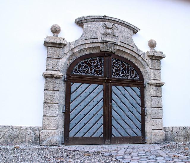 Input hinged door double door.