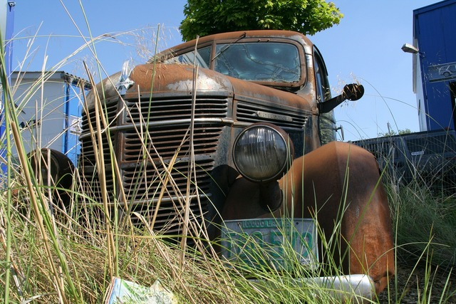 International oldtimer auto.