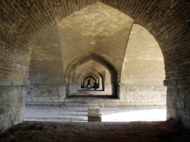 Iran esfahan bridge, places monuments.