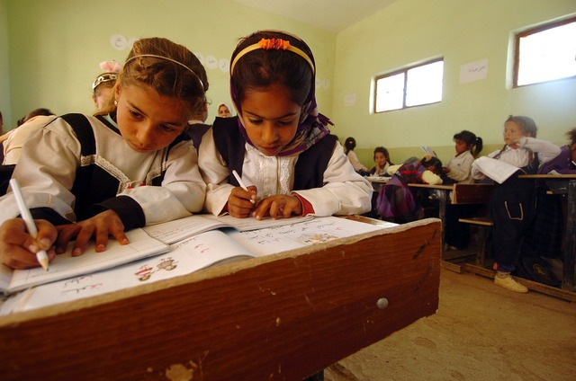 Iraq children school, education.