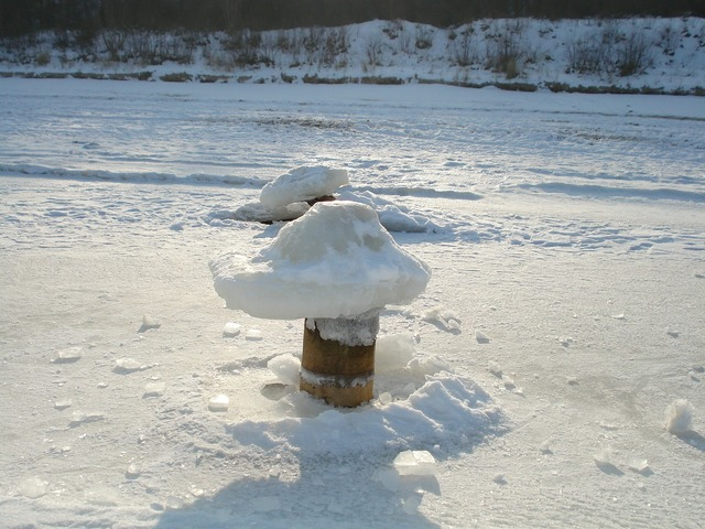 Island of usedom winter ice, travel vacation.