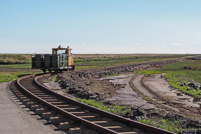Island railway lore dam dagebüll, transportation traffic.