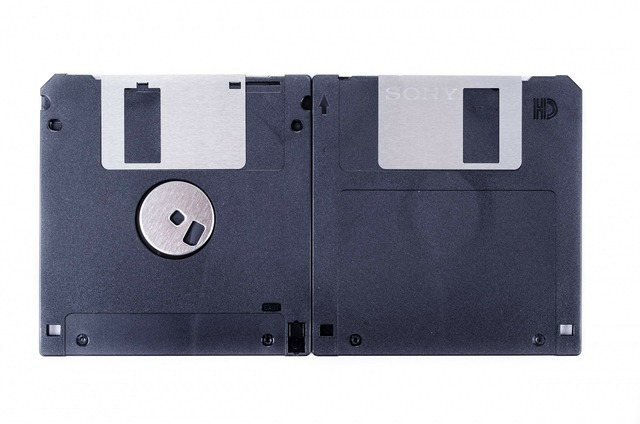 Isolated floppy file, business finance.
