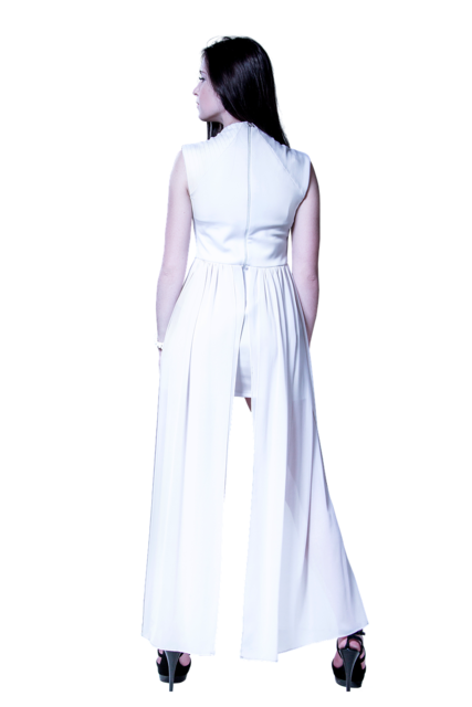 Isolated transparent woman, beauty fashion.