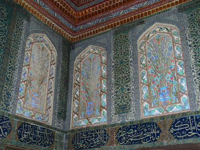 Istanbul palace castle, backgrounds textures.