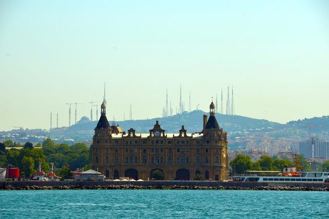 Istanbul sea cityscape, travel vacation.
