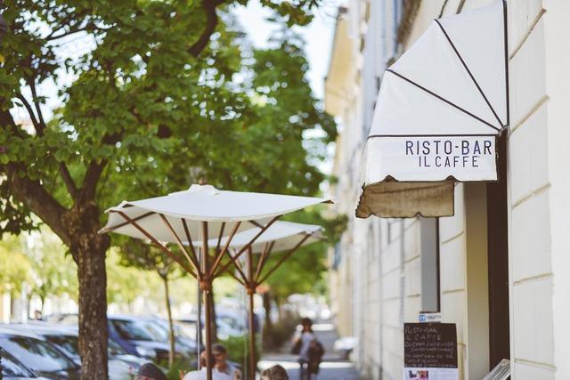 Italian cafe bar, food drink.