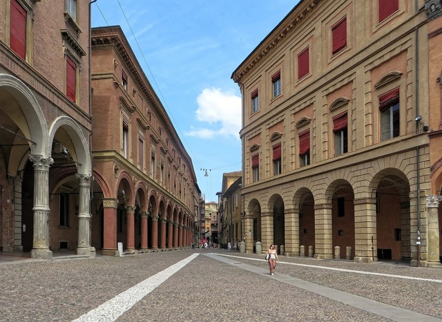 Italy bologna red city, architecture buildings.