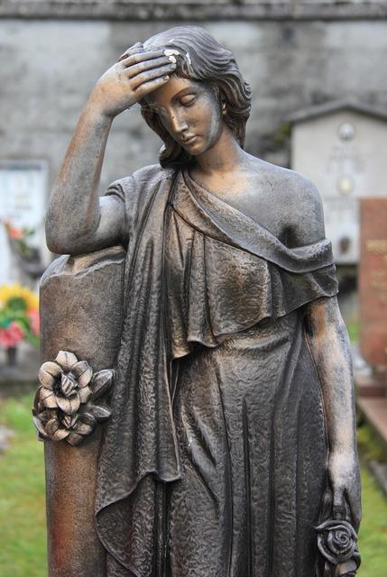 Italy cemetery statue, beauty fashion.