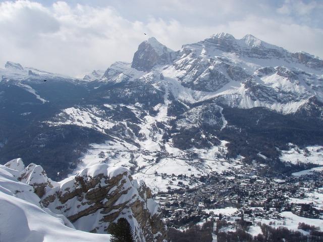 Italy dolomites snow.