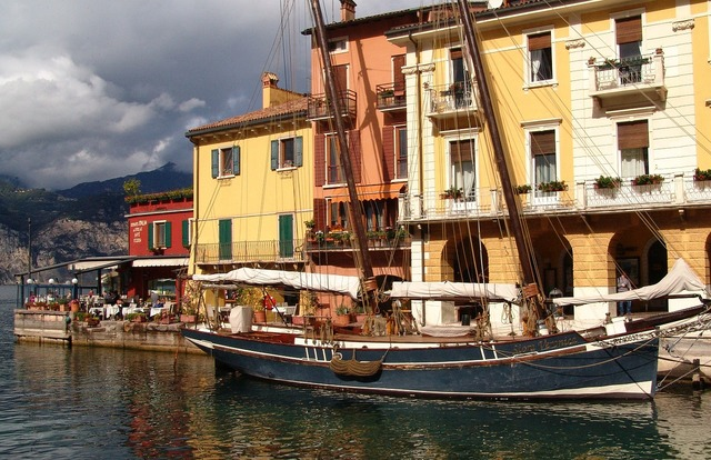 Italy garda port.