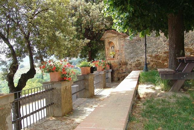 Italy mediterranean park.