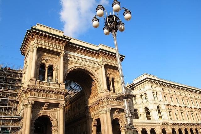 Italy milan arcade, architecture buildings.