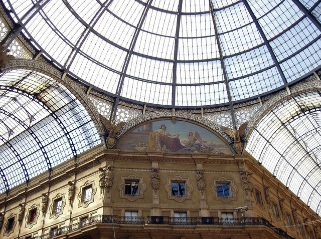Italy milan galleria vittorio emanuele ii, architecture buildings.
