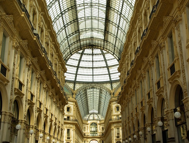 Italy milan gallery, places monuments.