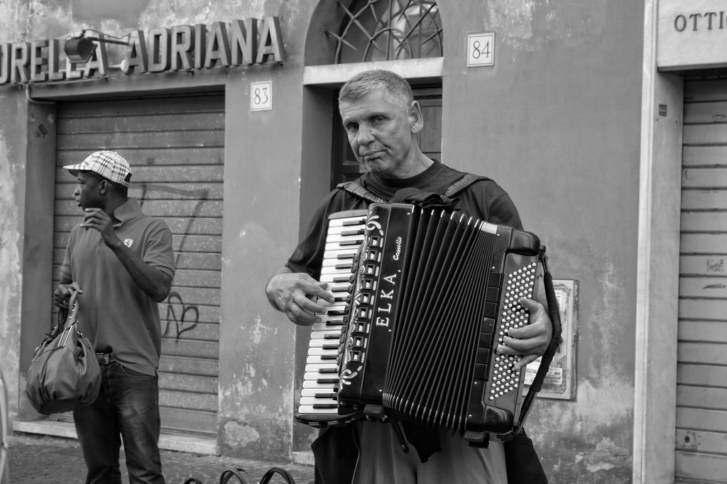 Italy rome accordion, music.