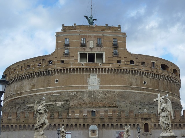 Italy rome castel sant'angelo, architecture buildings.