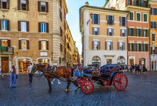 Italy rome horse, travel vacation.