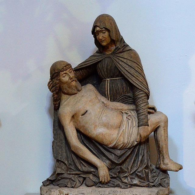 Italy sculpture virgin, religion.