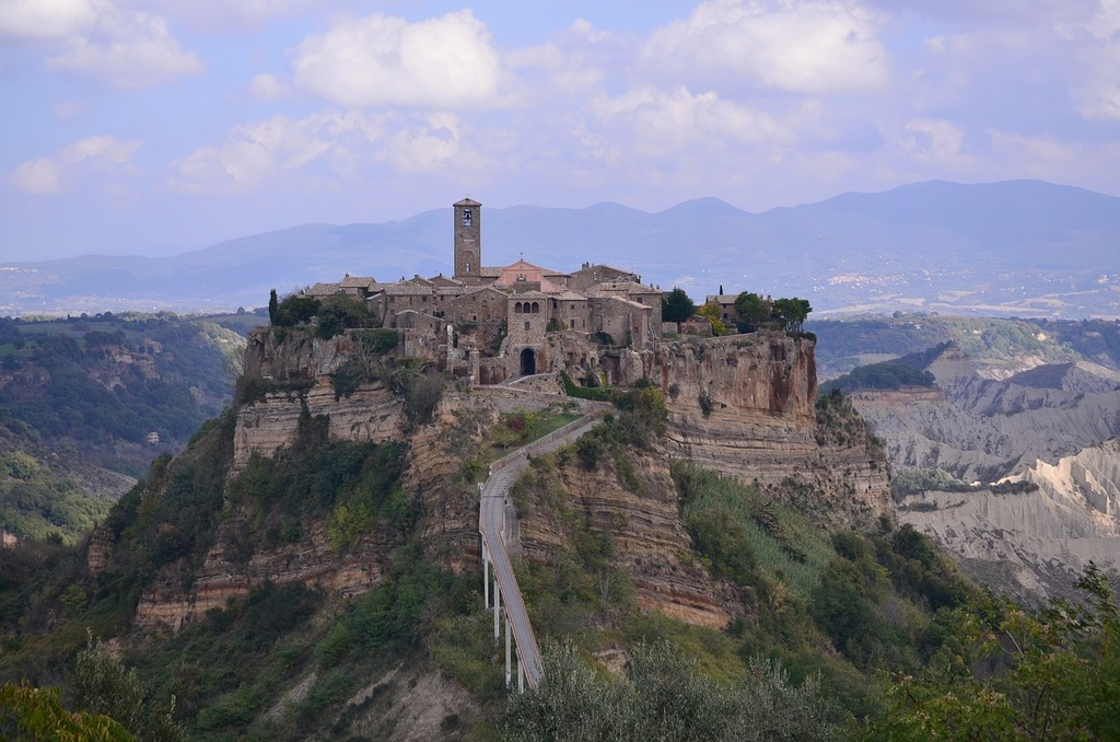 Italy the medieval city beauty, nature landscapes.