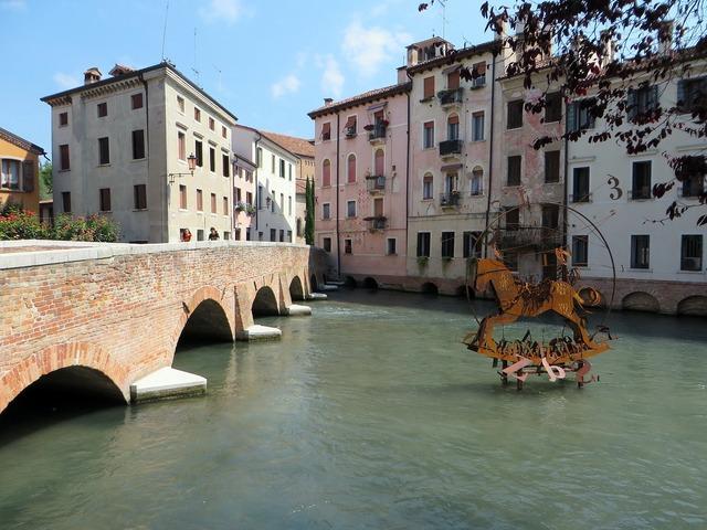 Italy treviso river.