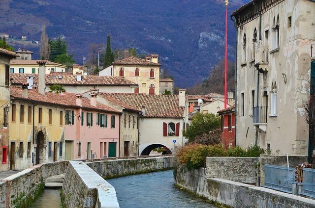Italy vittorio veneto city view.