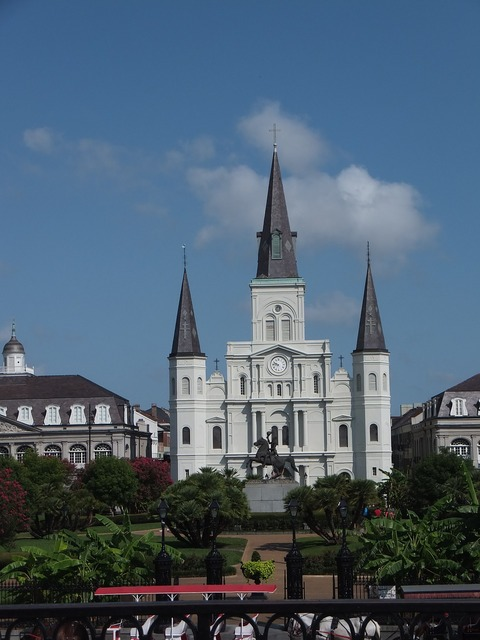 Jackson square louisiana orleans, architecture buildings.