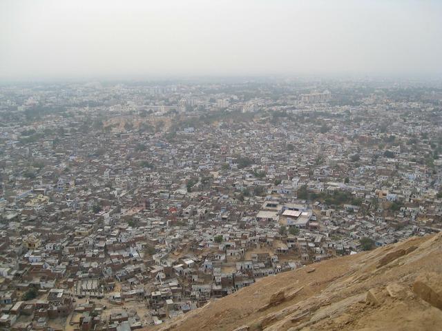 Jaipur city india, architecture buildings.