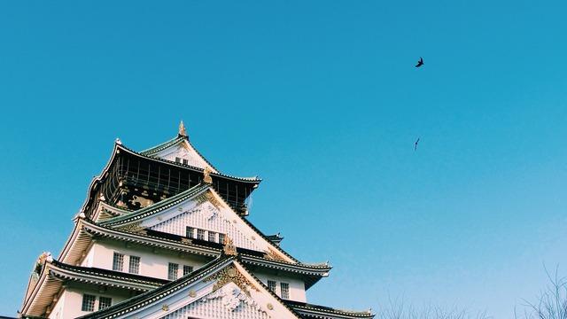 Japan building osaka castle, architecture buildings.