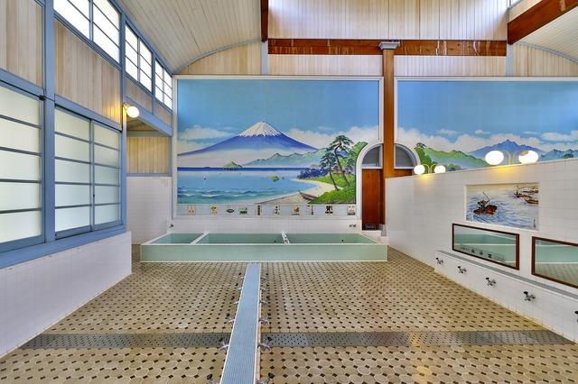 Japan building public bath, architecture buildings.