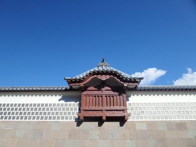 Japan castle wall.