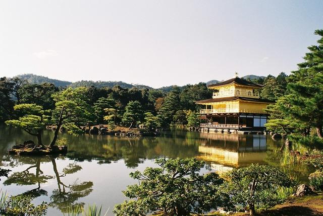 Japan kyoto kinkakuji temple.