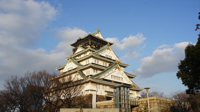 Japan osaka castle, places monuments.