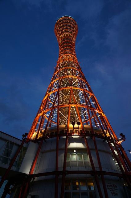 Japan osaka osaka night view.