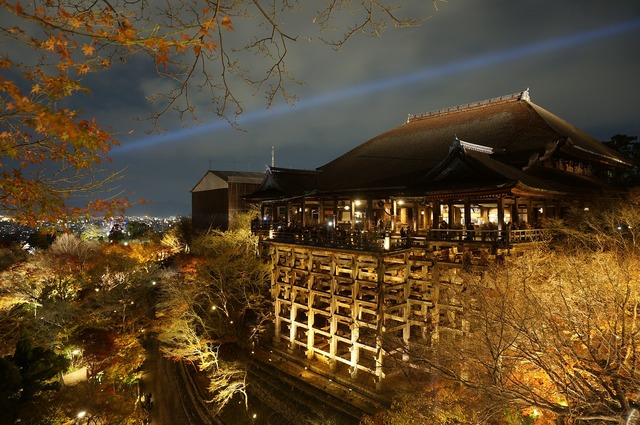 Japan osaka osaka night view, architecture buildings.