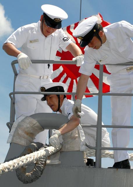 Japanese navy sailors.
