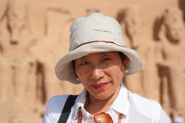 Japanese woman egypt, beauty fashion.