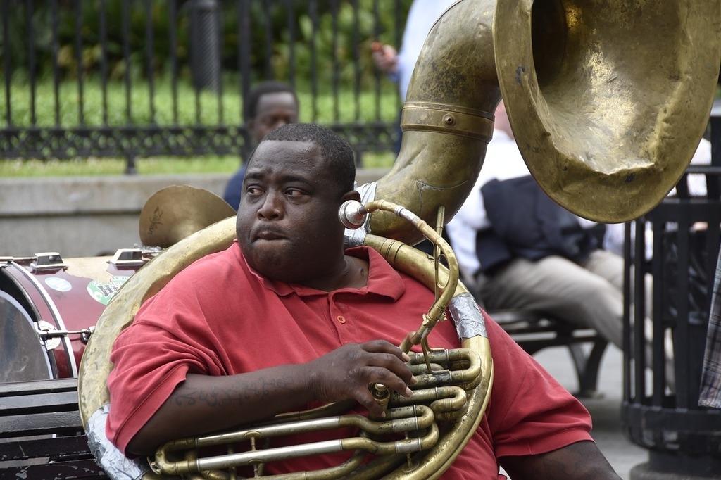 Jazz player new orleans, music  - PICRYL Public Domain Image