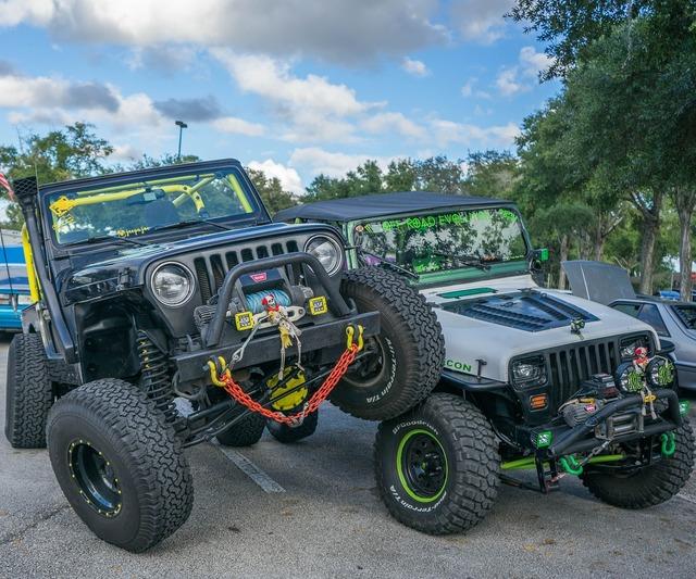 Jeeps big wheels halloween, transportation traffic.