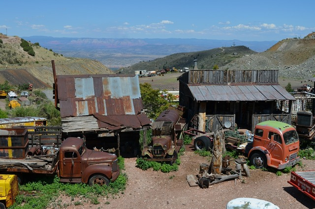 Jerome arizona town, architecture buildings.